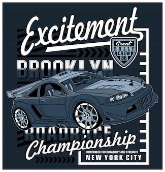 Racing art design, illustration graphique vectorielle