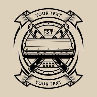 Raclette de sérigraphie logo design vectoriel