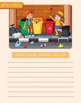 Racontez une histoire ramasser des ordures