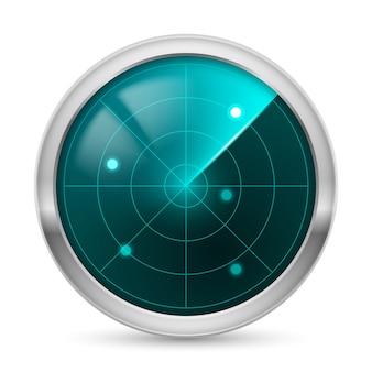 Radar isolé réaliste