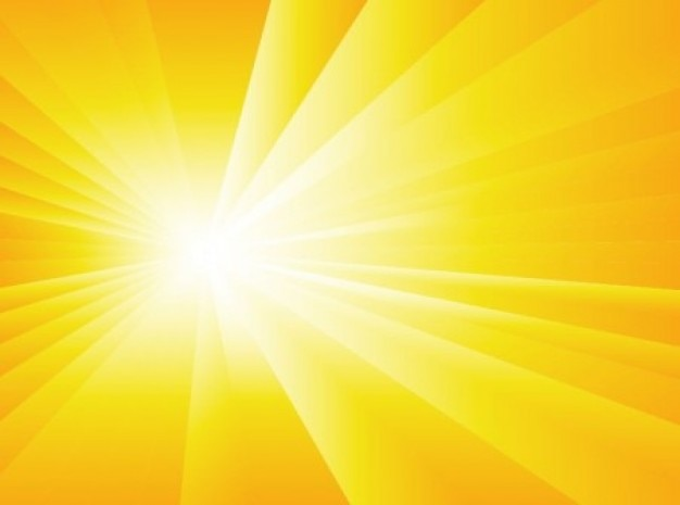 Radial fond de la lumière du soleil