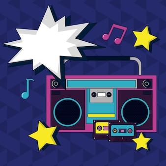 Radio de bande dessinée pop art