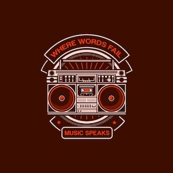 Radio music illustration