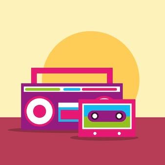 Radio son stéréo et esprit hippie cassette