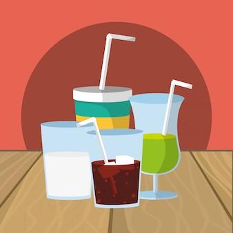 Rafraîchir le dessin animé de boissons