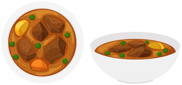 Ragoût de boeuf dans des bols