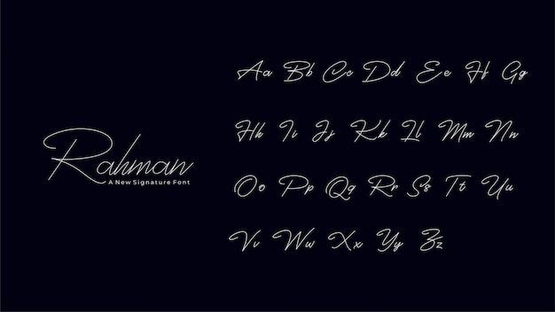 Rahman signature font