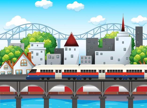 Un rail dans la ville