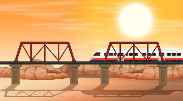 Un rail à la scène du désert