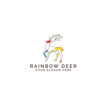 Rainbow deer logo