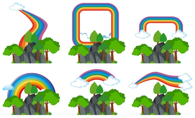 Rainbows sur les montagnes rocheuses