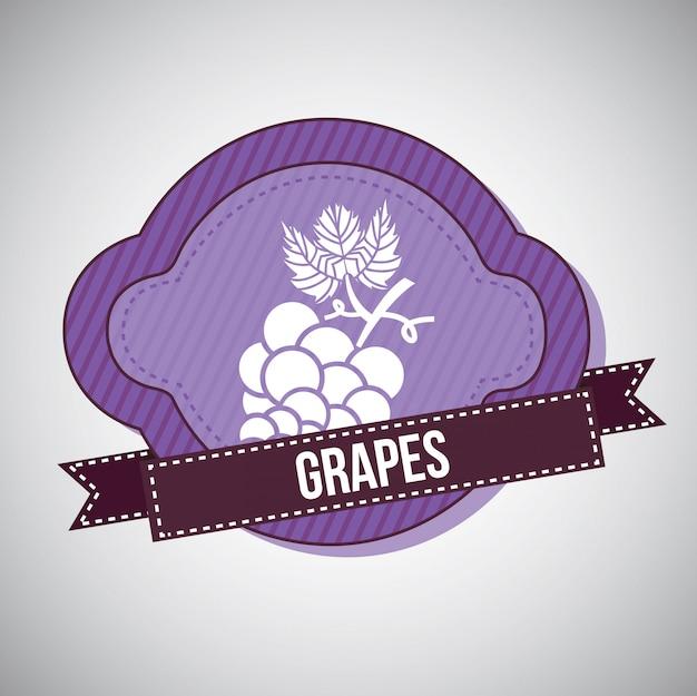 Raisin kon violet avec ruban