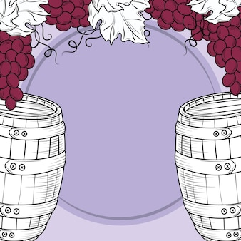 Raisin de tonneau de vin