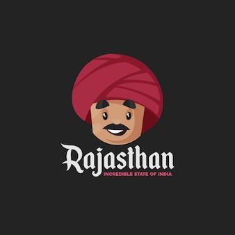Rajasthan incroyable modèle de logo de mascotte de l'état de l'inde