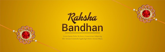 Raksha bandhan festival de bannière de célébration de l'inde