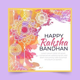 Raksha bandhan lettrage salutation