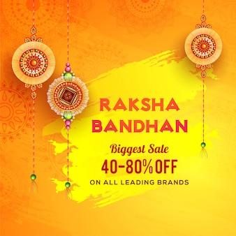 Raksha bandhan la plus grande bannière de vente