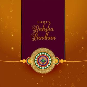 Raksha bandhan saluant dans un style indien