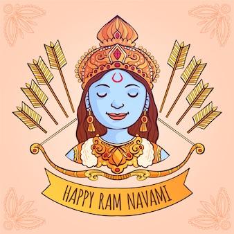 Ram navami avec des arcs