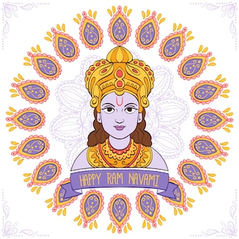 Ram navami célébration dessinés à la main
