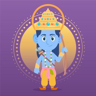 Ram navami avec enfant dieu