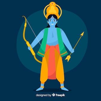 Rama personnage avec flèche et arc