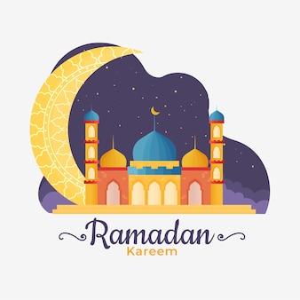 Ramadan au design plat