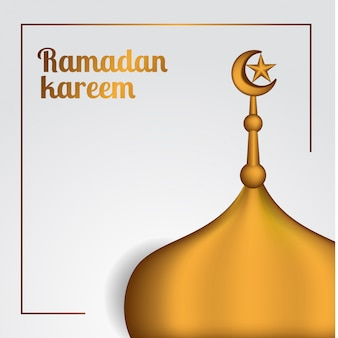 Ramadan au toit d'or réaliste