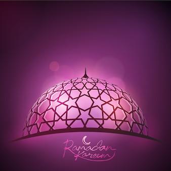Ramadan background faisceau de lumière