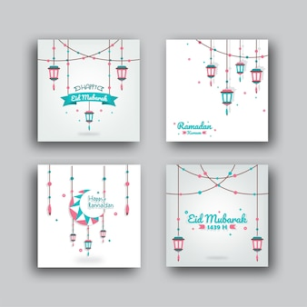Ramadan collection de cartes de voeux