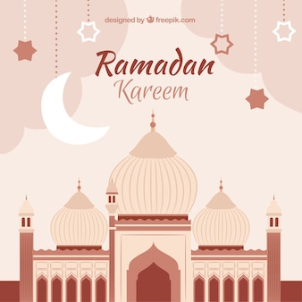Ramadan kareem background with mean