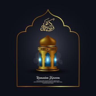 Ramadan kareem avec calligraphie arabe