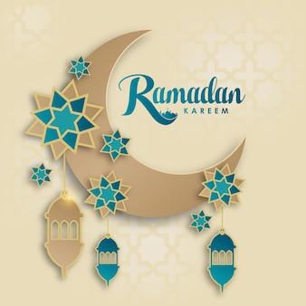 Ramadan kareem carte de voeux