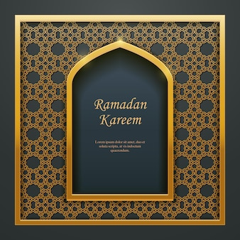 Ramadan kareem conception islamique mosquée porte fenêtre entrelacs