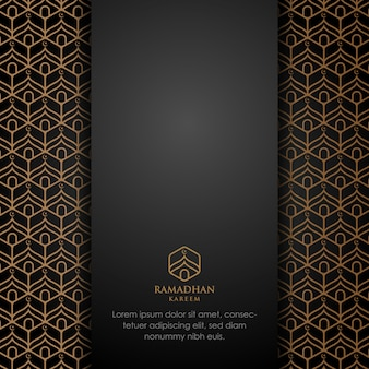 Ramadan kareem fond de belle carte de voeux avec calligraphie arabe