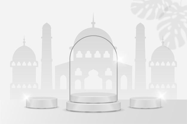 Ramadan kareem fond islamique podium