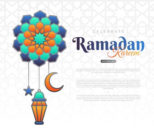 Ramadan kareem, fond, à, musulman, ornement illustration