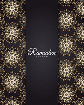 Ramadan kareem avec motif de mandala doré