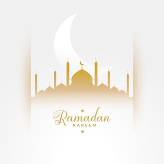 Ramadan kareem saison culturelle fond blanc