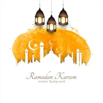 Ramadan kareem, silhouettes religieuses islamiques
