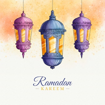 Ramadan kareem style aquarelle