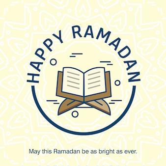 Ramadan kareem typogrpahic avec vecteur de design créatif