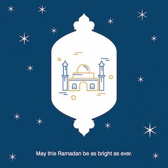 Ramadan kareem vector fond de carte de voeux