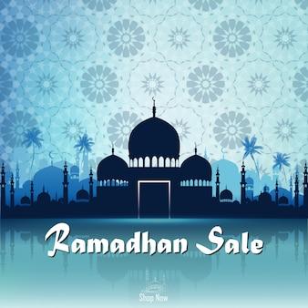 Ramadan kareem vente avec mosquée