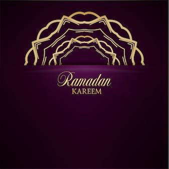 Ramadan kareem voeux fond fleuri