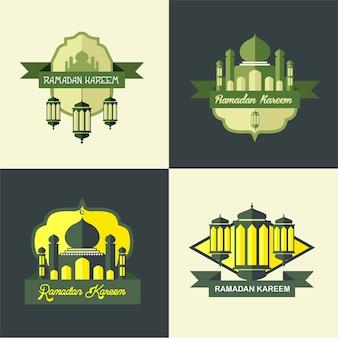 Ramadan mosque logo classique simple