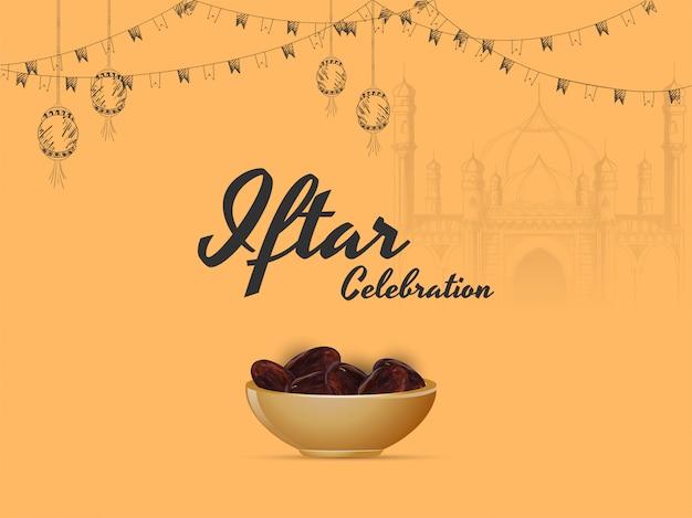 Ramadan mubarak, concept du parti iftar.