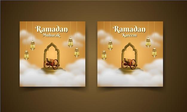 Ramadan mubarak instagram bannière de publication de médias sociaux