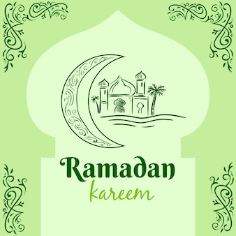 Ramadan avec palais et lune
