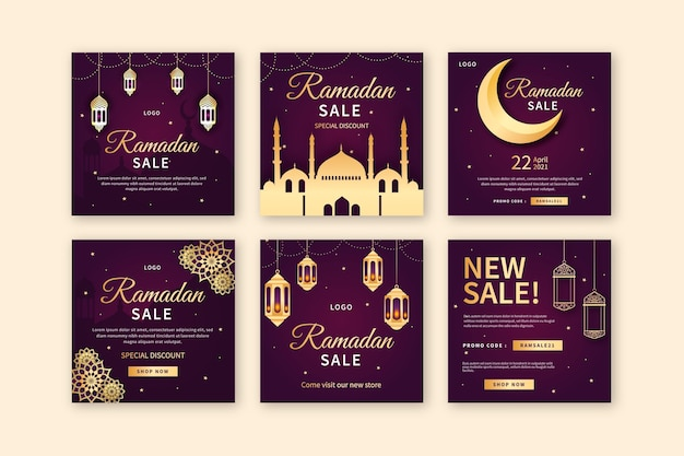 Ramadan sale instagram posts collection